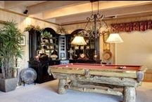 Game Room Ideas / Whether it's a Man Cave or a family media room, there's lots of options for furnishing the most fun room in the home!
