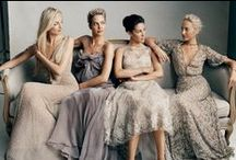 The Perfect Missmatched Brides maids / Follow a few simple rules and your bridal party can also look super chic without looking exactly the same...