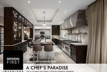 """A Chef's Paradise / """"A Chef's Paradise"""" - The Design First Interiors 2014 GOHBA Housing Design Awards Winner in the Custom kitchen, 191 to 219 sq. ft. category"""