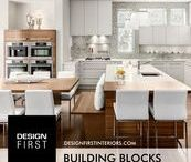 """Building Blocks / """"Building Blocks"""" the Design First Interiors 2014 GOHBA Housing Design Awards Winner in the Custom kitchen, 220 sq. ft. or more, $75,000 and over category."""