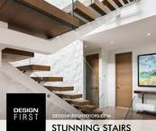 """Stunning Stairs / """"Stunning Stairs"""" the Design First Interiors 2014 GOHBA Housing Design Awards Winner in the Housing Details category."""