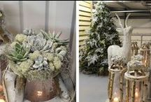 Christmas spirit and flowers / All about Christmas decorations with a flower note. Looking for simple ways  of how to incorporate fresh plants into Christmas decor look no further.