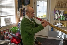 O Tannenbaum 2012 / A wonderful day of horn talk, hanging in the shop with 2 legends of horn playing, and introducing my son to the Alpenhorn for the first time ever.