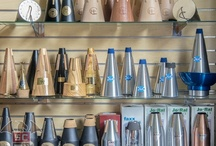 French Horn Mutes / We sell many brands of mutes: TrumCor, JoRal, Rittich, Lewis, Don Maslet, Humes and Berg, HornCrafts, Wallace, Ion Balu, Dennis Wick, Tom Crown, RGC, Woodstop, Marcus Bonna, Faxx,