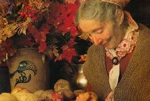 Tasha Tudor / Tasha Tudor, a famous childrens' books illustrator, who herself lived in the way of a simple past somewhere in Vermont (1915 - 2008)