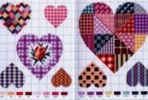 Cross Stitch - Hearts, Crosses & Keys