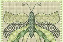 Blackwork - Birds & Butterflies