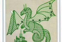 Blackwork - Dragons & Animals
