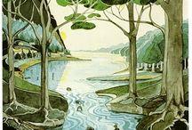 J.R.R. Tolkien drawings