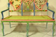 Chairs with Flair / Creative inspiration .. Hand painted chairs