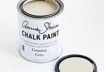 Country Grey Chalk Paint® / This is a putty colour using greenish raw umber, and is a really useful colour. It 's terrific on its own or mixed with white for distressing as a top coat with Cream or Scandinavian Pink underneath. It is generally seen as a rustic colour good for a country look.  Another way to use it is to mix it into another colour such as Château Grey or Duck Egg Blue to make them paler and knocked back. Purchase online at www.artworksnw.com or find a retailer near you at www.unfolded.com.