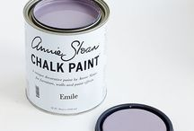 Emile Chalk Paint® / A warm soft aubergine colour with pink red undertones giving a rich complexity that makes beautiful sophisticated lilac tones when Old White is added. It is a colour that adds a contemporary facet to the palette being a colour used by the Charleston artists as well as a colour used by Robert Adam in the 18th century after visiting Pompeii. Purchase online at www.artworksnw.com or find a retailer near you at www.unfolded.com.
