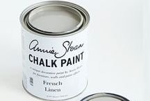French Linen Chalk Paint® / A cool neutral khaki grey inspired by bleached deep neutral of old pieces of French and Italian furniture. It works beautifully with golds and a range of rich and bright colours such as Emile and Emperor's Silk.  Purchase online at www.artworksnw.com or find a retailer near you at www.unfolded.com.