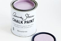 Henrietta Chalk Paint® / A beautiful rich complex pink with a hint of lilac. It's a  sophisticated colour used in its full strength but with Old White added it stays an interesting colour and without being too 'cupcake'.  Purchase online at www.artworksnw.com or find a retailer near you at www.anniesloanunfolded.com.