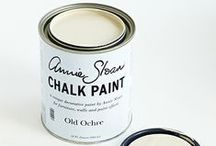 Old Ochre Chalk Paint® / A soft warm neutral that can be dark waxed to make the colour of old French painted woodwork.  Purchase online at www.artworksnw.com or find a retailer near you at www.unfolded.com.