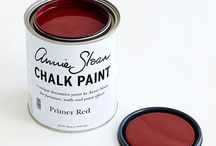 Primer Red Chalk Paint® / Deep red ochre is a colour found in practically every culture from Venetian palaces to Vietnamese temples. Red earths were plentiful and relatively easy to come by so the colour is often associated with the colour for priming furniture and as the base coat for gilding. It is a wonderful colour on its own or as a base for other colours particularly when distressing.  Purchase online at www.artworksnw.com or find a retailer near you at www.unfolded.com.