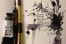 штамп и калиграфия