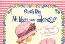 """Sara Kay """"MI LIBRO PARA COLOREAR"""" / Sara Kay en blanco y negro para colorear"""