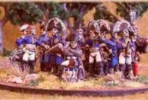 Miniatures figurines modelling art / The art of model Napoleonic war gaming, painting figurines