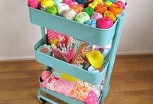 Storage Ideas / Sewing, knitting and crochet: storage ideas for your crafting accessories!