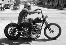 Harley-Davidson & others / Harley-Davidson, Triumph, bobbers, motorcycles, mc, Hells Angels...