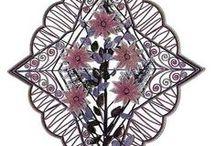 beadwork funeral wreath