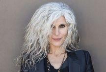 white silver hair