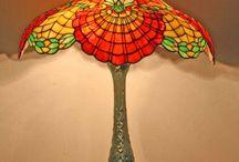 Art nouveau Lamp Glasses