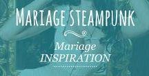 ➳ Mariage steampunk / #steampunk #mariage #decoration #wedding