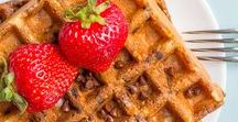 Saturday Brunch Recipes / One of my favorite things to do on the weekends is to prepare a monster Saturday morning breakfast / brunch. Here are some favorite recipes!