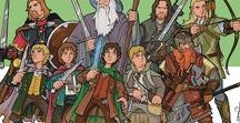 Middle Earth / THE SILMARILLION: The history of the First Age of Middle-Earth | THE HOBBIT: A reluctant hobbit sets out to the Lonely Mountain with a spirited group of dwarves to reclaim their mountain home from the dragon Smaug | LORD OF THE RINGS: A meek Hobbit and eight companions set out on a journey to destroy the One Ring and the Dark Lord Sauron