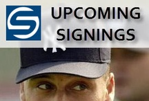 Upcoming Signings! Get Your Collectible Sports Memorabilia Signed By Your Favorite Athlete / Steiner Sports is proud to have relationships with thousands of athletes, spanning every major sport. It's through these relationships that Steiner Sports bridges the gap between fan and athlete. Want a baseball autographed by Derek Jeter? Can do. Want to meet Don Larsen and Yogi Berra, snap a photo with them and celebrate their World Series perfect game by snagging a ball signed by both? Your dreams come true when you participate in one of our Private Signing events or Live Public Appearances. / by Steiner Sports