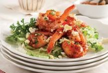 """""""see""""food & fish / """"I shall be but a shrimp of an author."""" Thomas Gray / by esther thurman"""
