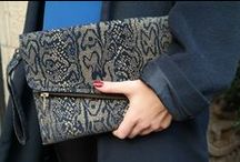FILD PIECES CLUTCHES / Leather snakeskin style clutches