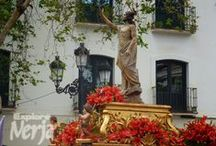 Nerja, Easter Processions  / Easter is a busy time in Spain with towns and cities having multiple processions and religious events during the week.  Easter is great time to visit Nerja with the town providing a picturesque backdrop to multiple parades.