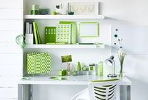The task is greener / Bring the outdoors, indoors with a hint of green.