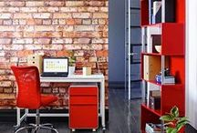 Red hot workspace / Fall in love with your workspace with a dash of red.