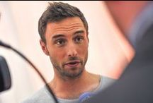 """Måns Zelmerlöw   Sweden Eurovision 2015 (Mans Zelmerlow) / Måns Zelmerlöw is a Swedish pop singer and television presenter.  He participated in Melodifestivalen in 2007, 2009 and won in 2015. He represented Sweden in the Eurovision Song Contest 2015 with the song """"Heroes"""", and won the contest"""