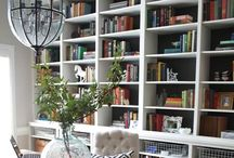 Home library & built-in bookshelves