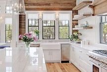 White Kitchens / Simple, clean and bright, white kitchens are a timeless go-to. Colonial Countertops has a number of stone and laminate countertops that are perfect for anyone looking to refresh their kitchen.