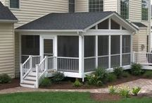 HNH Screen Rooms | Front Porches / Give your home more curb appeal while adding an important lifestyle element to your life. HNH Deck & Porch will create an outdoor living area for your family and friends to enjoy throughout the year. Whether it's a porch on the front of your home or a screened room or in the back, you can count on us to make your dreams come true. All photos are HNH Deck and Porch jobs.