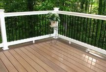HNH Deck Railings / Looking for a beautiful, unique, and durable railing that compliments the rest of the deck? Whether it is PVC, aluminum, or cable rail, HNH Deck and Porch works with quality suppliers such as Deckorators, Azek, Longevity, and Atlantis Rail Systems to provide a variety of options for the home owner. All photos are HNH Deck and Porch jobs