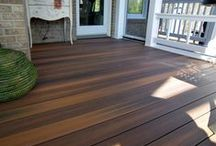 HNH Deck Flooring / There has never been so many options when choosing the flooring for your deck. Today's colors, finishes, and materials have given the home owner a variety of choices. Whether you use Fiberon composite with hidden fasteners or low maintenance Azek vinyl decking, you will have a beautiful, durable deck that will last for years to come. HNH Deck and Porch will help you decide what type of flooring to use and then create the deck of your dreams. All photos are HNH Deck and Porch jobs.