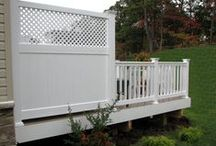 """HNH Deck & Porch Extras / Looking to add a splash of creativity, maybe some shade or extra seating, or just a little more  privacy? HNH Deck and Porch offers privacy panels, pergolas, benches, accent lighting, lattice, and much more to help make your dream deck come true. Whether you know what you want or are looking for ideas to make your deck unique and functional, we will take you step by step to make your deck """"yours"""".  We will make it happen for you."""