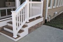 HNH Deck Steps |Staircases / Steps are usually a must when it comes to the design of the deck. Whether the home owner needs a split staircase or just a few steps, HNH Deck & Porch offers a variety of options that are aesthetically pleasing and still functional. All photos are HNH Deck and Porch jobs.