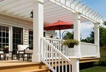 Pergola Ideas / Looking for ideas for the backyard? Pergolas are a creative way to add shade to your outdoor living area .