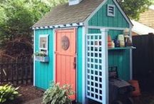 Shed | Greenhouse | Clubhouse Ideas / Creative backyard storage areas, greenhouses, and clubhouses for the young and young at heart.