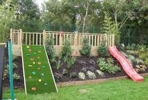 Backyard Playground Ideas / Great backyard fun for the kids.