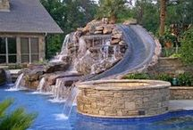 Pool Ideas / Thinking about getting a pool for the backyard? What a way to float away the days worries.