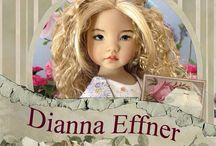 Poupées Dianna Effner / Elles sont superbes , avec un visage très réaliste . Leur créatrice Diana Effner est une véritable artiste , qui peint leur visage a la main . Les poupées sont en porcelaine ou en vinyle . Elles sont vraiment craquantes ! / by Poupy